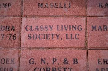 Classy Living Society's Adopted Brick is in Place and It's Classy!