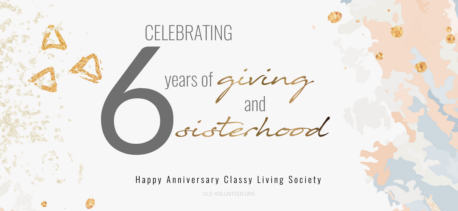 It's a Celebration!  The Sixth Anniversary of Classy Living Society!